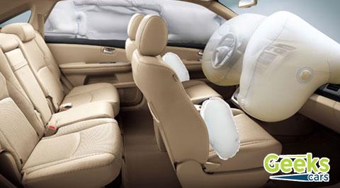 مواصفات ومميزات السيارة BYD s6 - المقصور الداخلية والامان