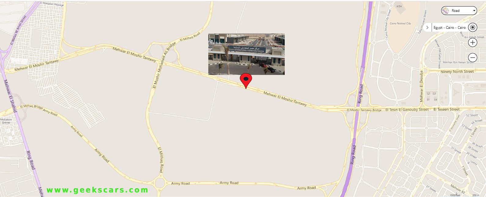 مكان معرض اتوماك فورميلا 2018 على خريطة جوجل