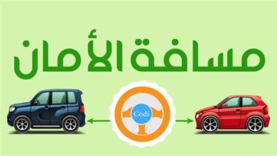 مسافات الامان بين السيارات