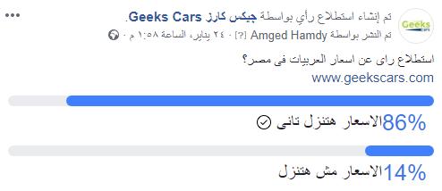 استطلاع راى عن اسعار السيارات فى مصر 2019